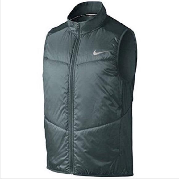 841fa7fdb37a Nike Polyfill Men s Green Light Running Vest - M L